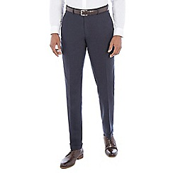 Hammond & Co. by Patrick Grant - Navy linen blend tailored fit turn up trouser