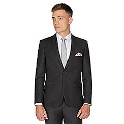 Red Herring - Charcoal twill skinny fit suit