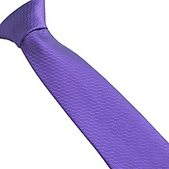 Stvdio by Jeff Banks - Stvdio by Jeff Banks purple irregular textured tie