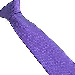 Stvdio by Jeff Banks - Stvdio by Jeff Banks purple irregular textured tie