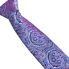 Stvdio by Jeff Banks - Magenta intricate paisley tie