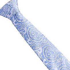 Stvdio by Jeff Banks - Light blue intricate paisley tie