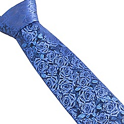 Stvdio by Jeff Banks - Blue digital roses tie