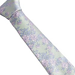 Stvdio by Jeff Banks - Light green twill floral tie