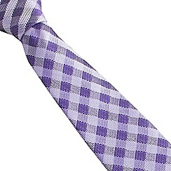 Stvdio by Jeff Banks - Purple gingham tie