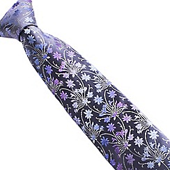 Stvdio by Jeff Banks - Grey tonal bouquet tie