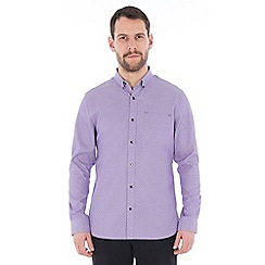 Jeff Banks - Lilac scatter dobby shirt