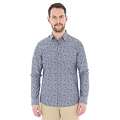 Jeff Banks - Blue floral chambray shirt