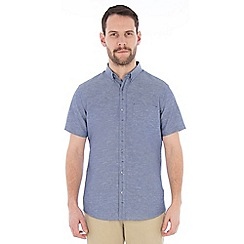 Jeff Banks - Blue linen mix shirt