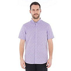 Jeff Banks - Lilac dobby linen shirt