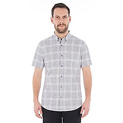 Jeff Banks - Grey graded check shirt