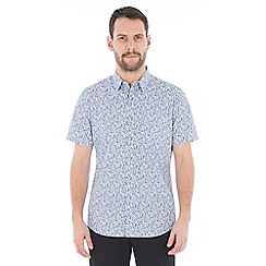 Jeff Banks - Light blue soft floral print shirt