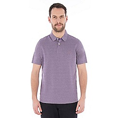 Jeff Banks - Lilac tonal textured stripe polo shirt