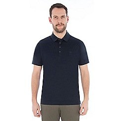 Jeff Banks - Navy mercerised cotton polo shirt