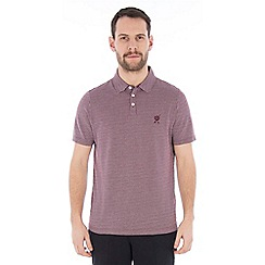 Jeff Banks - Purple square jacquard polo shirt