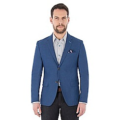 Jeff Banks - Blue birdseye weave blazer