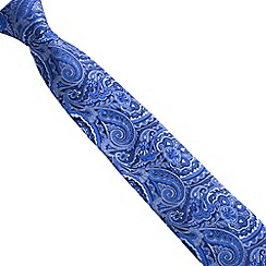 Stvdio by Jeff Banks - Navy intricate paisley tie