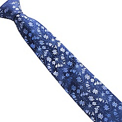 Stvdio by Jeff Banks - Navy tonal floral tie