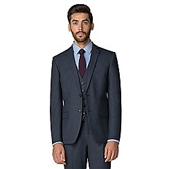 Racing Green - Dark blue textured tailored jacket