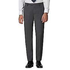 Racing Green - Grey jaspe gingham trousers