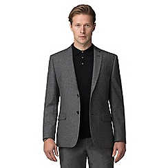J by Jasper Conran - Grey donegal wool blend tailored fit suit jacket