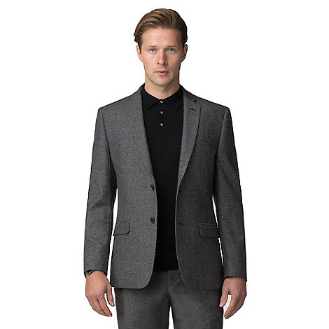 J by Jasper Conran - Grey donegal wool blend tailored fit suit