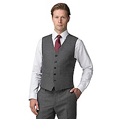 J by Jasper Conran - Grey donegal wool blend tailored fit suit waistcoat