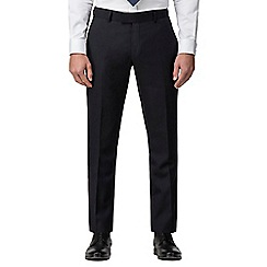 J by Jasper Conran - Navy hopsack wool blend tailored fit suit trouser