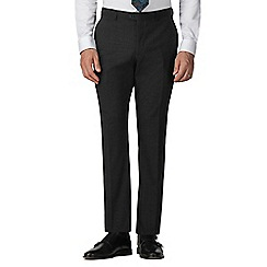 Stvdio by Jeff Banks - Grey textured flat front tailored fit performance suit trouser
