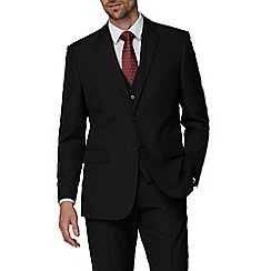 The Collection - Black regular fit suit