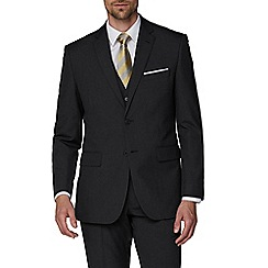 The Collection - Charcoal plain regular suit