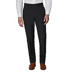The Collection - Charcoal plain regular fit trouser
