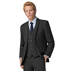 The Collection - Charcoal plain tailored fit suit