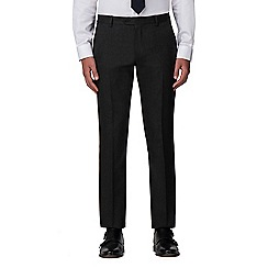 The Collection - Dark grey birdseye tailored fit trouser