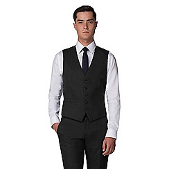 The Collection - Dark grey birdseye tailored fit waistcoat
