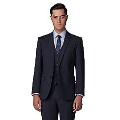The Collection - Deep blue semi plain tailored fit suit