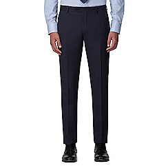 The Collection - Deep blue semi plain tailored trousers