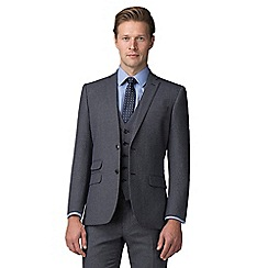 The Collection - Grey jaspe effect tailored fit suit