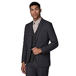 Red Herring - Navy heritage check slim fit suit
