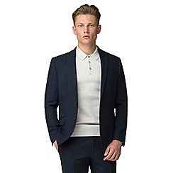 Red Herring - Deep blue donegal slim jacket