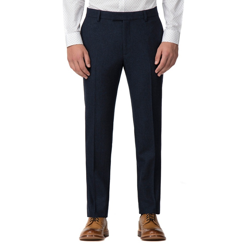 Red Herring Deep blue donegal slim trouser