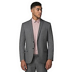 Red Herring - Smoked grey jaspe slim fit jacket