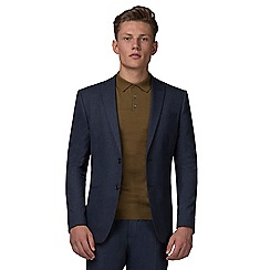 Red Herring - Slate blue jaspe slim fit jacket