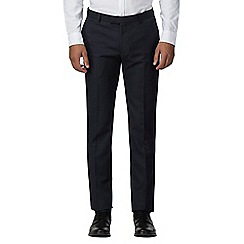 Red Herring - Midnight tonal semi plain slim fit trouser