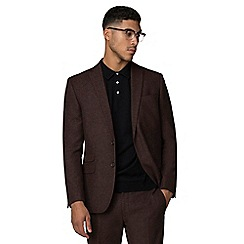 Red Herring - Rust donegal slim fit jacket
