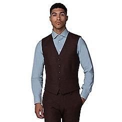 Red Herring - Rust donegal slim fit waistcoat