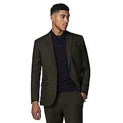 Red Herring - Green donegal slim fit suit