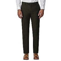 Red Herring - Green donegal slim fit trouser