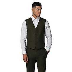 Red Herring - Green donegal slim fit waistcoat