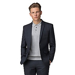 Ben Sherman - Navy waffle weave tailored fit jacket